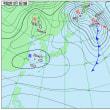 12月9日 アメダスと天気図。
