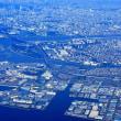空から眺る東京ディズニーランドと東京ディズニーシー