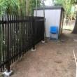 これまた大型門扉 取り付けとフェンスの細かい作業 我孫子