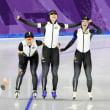 平昌五輪 女子パシュートで金メダルを獲得! 今大会では3個目ですね。