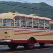 岡山のバス(備北バス旧塗装のボンネットバス)