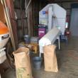 小麦の選別・袋詰め と 掃除・片付け