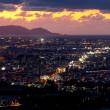 今日の札幌の夕焼け(26)札幌夜景と小樽の空