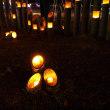 震災死者の冥福を祈る