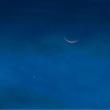 18/Sep 月と金星とくっきり富士山とモズとツバメと彼岸花