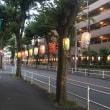 アロマタイムカフェ、お祭り提灯点灯