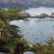 うみの杜水族館から大高森展望台へ 食事は牡蠣小屋で
