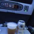 機内ビールは一番搾り