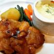 若鶏ソテー生姜風味&エビマカロニグラタン