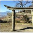 【鳥居のある風景】日吉神社の庚申塔付き台輪鳥居@甲府市上積翠寺町