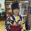 石和南小卒業式の袴姿