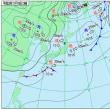11月19日 アメダスと天気図
