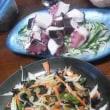 タコと野菜炒め