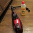 今日のお掃除はスチームクリーナーでキッチンの床