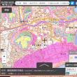 茨城県の各市町村の津波避難用の色別の標高地図。ゼロ~5~10~20~30~40メートル、40メートル以上の6段階の標高の範囲の地図