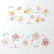 梅と桃と桜の花のはんこ