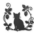 猫さん×イチゴ×葉っぱ×ツタ×お花の妻飾り