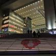 新しい遊歩道が出現(大阪駅北側)