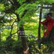 小石川後楽園の赤い祠