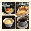 今日のお昼ご飯 合鴨のパストラミサンド