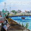 蟹江川ー記念橋