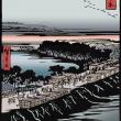 広重 名所江戸百景 よし原日本堤