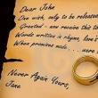 本日のフレーズ # 1631  Dear John letter