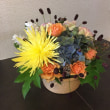 大きなマムが素敵、静岡講師会、秋のアレンジ。