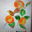 iPadで「柿」のお絵かきを