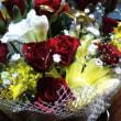 某祝賀会に参加して、色とりどりの花頂いた!