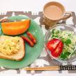 卵マヨのっけパンで朝ごはん