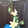 お花のお稽古 石化柳、すかしゆり、赤小菊