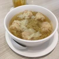 お粥と蝦ワンタン麺@金飯館(Kヴィレッジ)