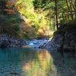 紅葉の阿寺渓谷(長野県大桑村)