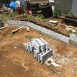 コンクリート打設前の 勾配部分を含む9mブロック