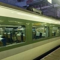 ブログ170717 山梨へ桃狩りに~復路は国鉄色の臨時列車のかいじ180号 189系あさま色
