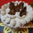 10月のメニュー・・・黒糖いちじくのショートケーキ
