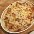 豆腐グラタンと鶏ハムサラダ