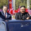 北朝鮮で大歓迎を受ける韓国の文在寅大統領