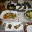 秋刀魚で2品と作り置きの晩ご飯(いつのサラリーマン川柳?)