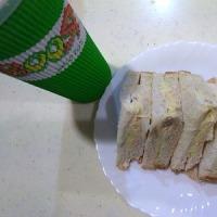 サンドイッチとブーストのスムージー