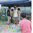 地元の納涼まつりでボランティアした日 volunteered to be a staff of a game booth for kids