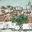 1627.一本のオリーヴの木とアランドロアルの城
