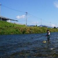 揖保川へアユ釣りに