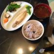 笹カレイの一夜干しと菌飯