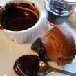 バンホーテンココアでチョコディップ