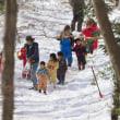 雪の中の遠足