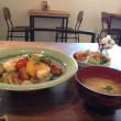お豆腐と野菜の甘辛丼、うま~♪