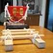石切神社のふとん太鼓の神輿を制作しました。(TT)