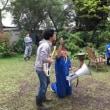 今日は朝から、ジャガイモ掘って収穫祭、